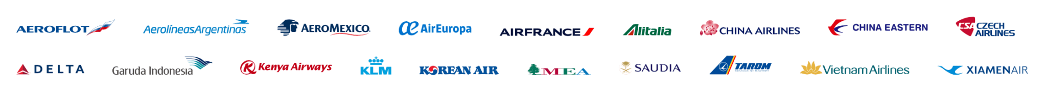 SkyTeam Partners as of 2020 Screenshot