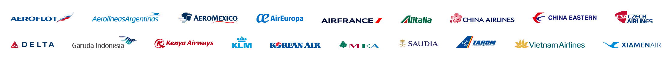 SkyTeam Partners as of 2020 Screenshot
