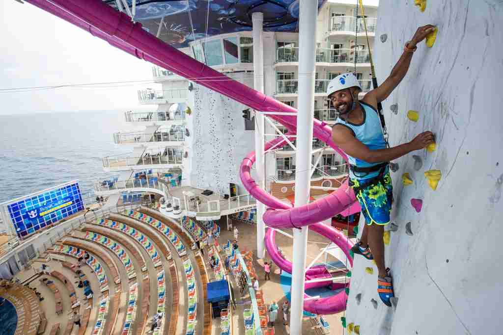 Harmony of the Seas rock-climbing wall
