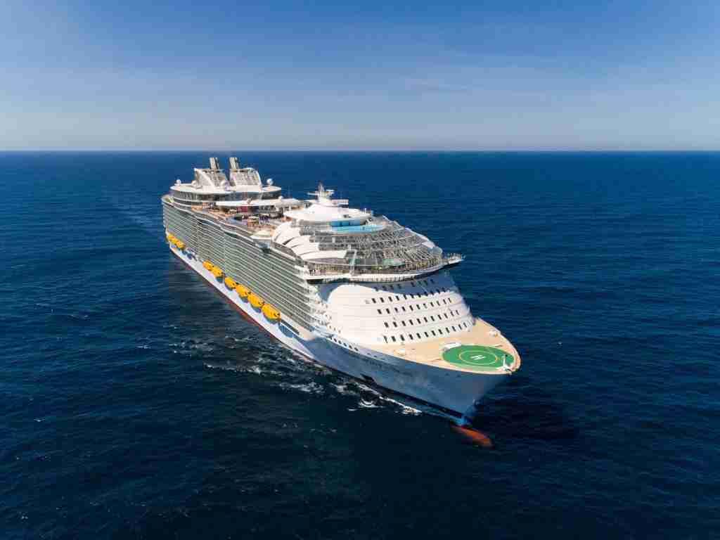 A Royal Caribbean ship at sea. (Photo courtesy of Royal Caribbean).