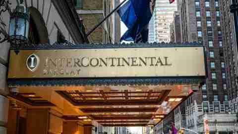 InterContinental New York Barclay Sign