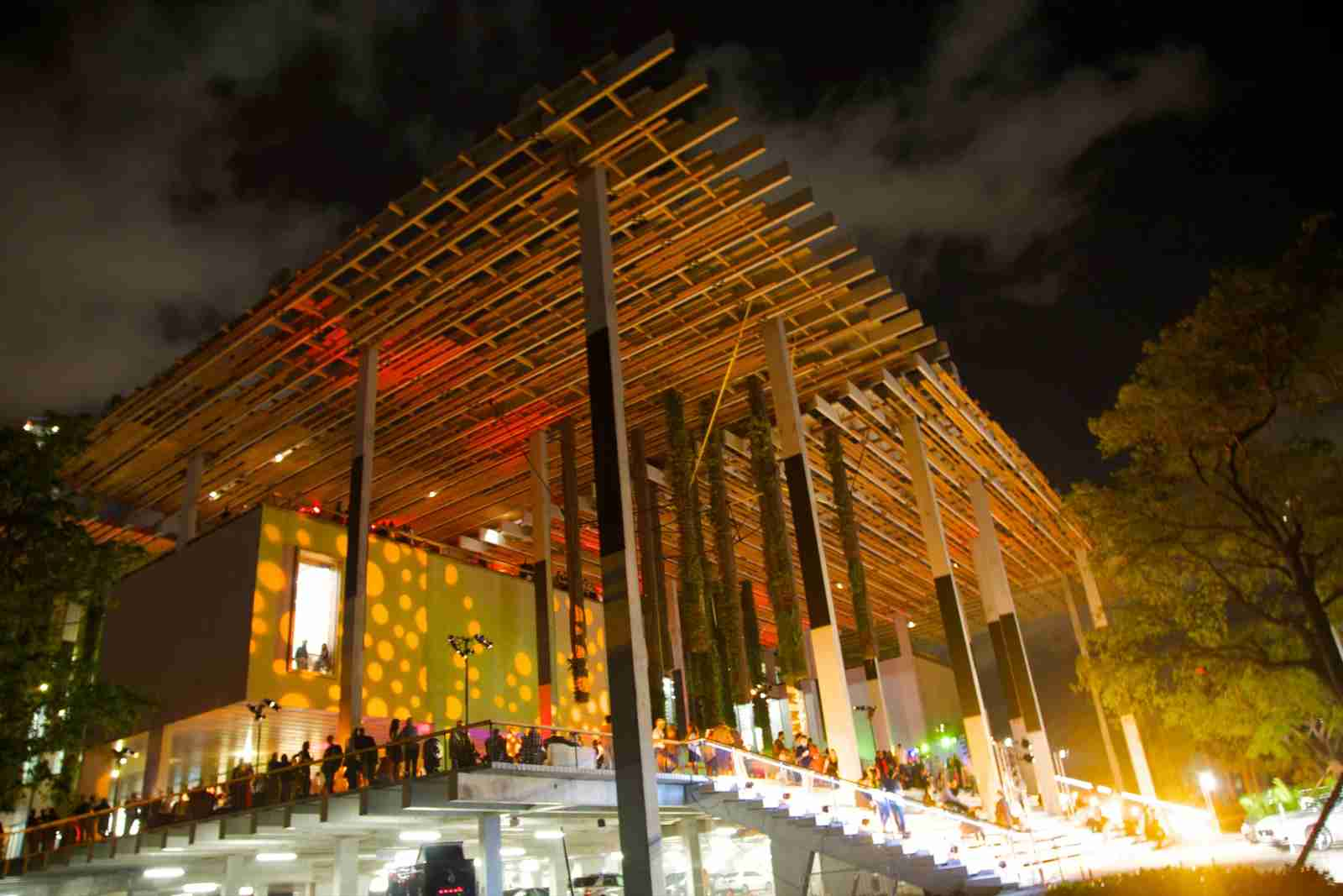 The Perez Art Museum Miami (PAMM) in downtown Miami. (Photo by Barry Winiker/Getty Images)