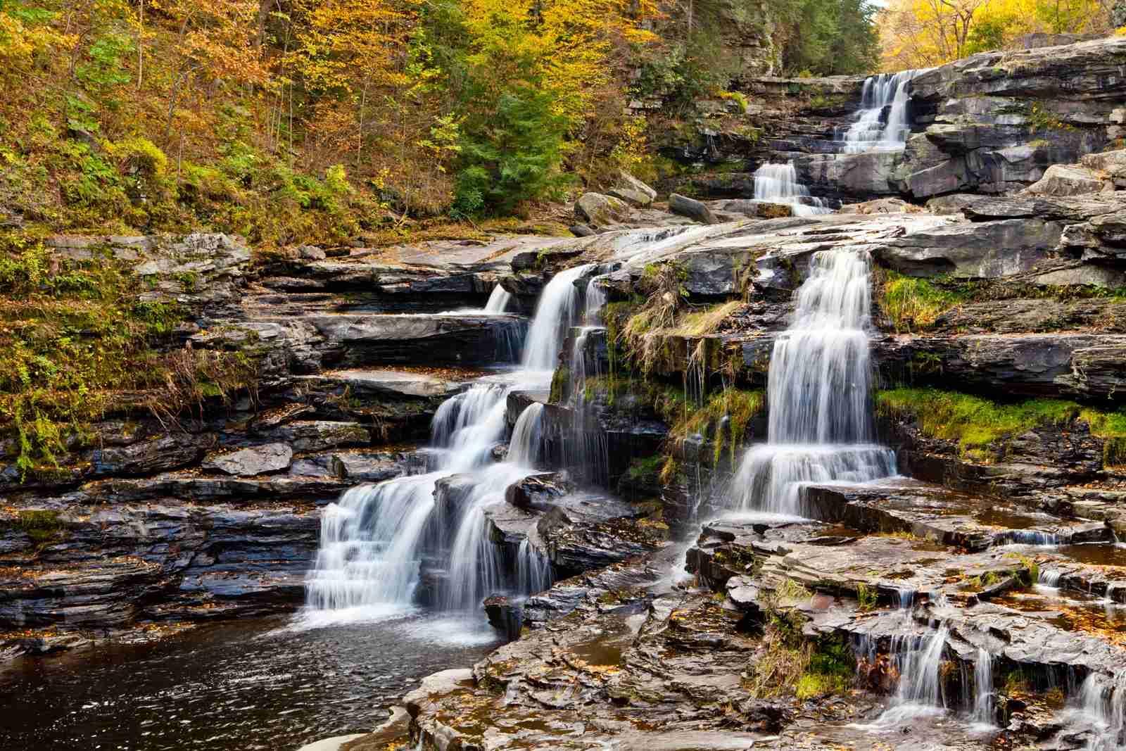 Wallenpaupack Creek Waterfalls in the Poconos. (Photo by Richard T. Nowitz/Getty Images)