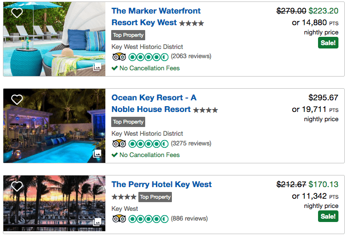 Here are some of the hotels -- all with on-site swimming pools -- that can be booked through the Chase Travel Portal using cash or Ultimate Rewards points.