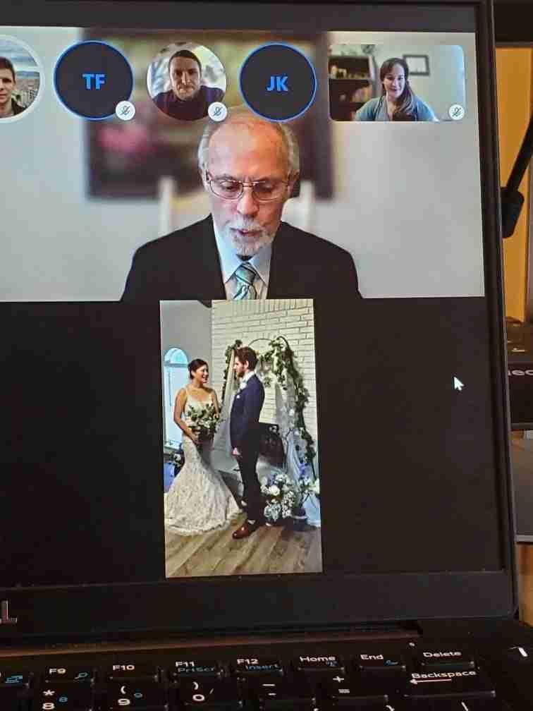 Joyce King live-streamed her coronavirus-quarantine wedding. Image courtesy of Joyce King.