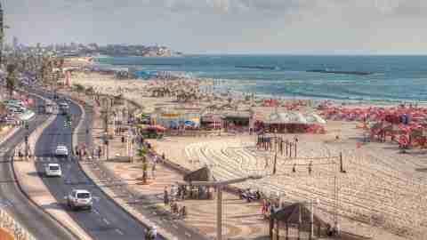 Tel Aviv Beach Promenade Israel