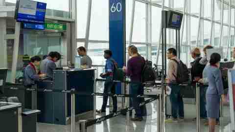 Airport Boarding Gate at HKG