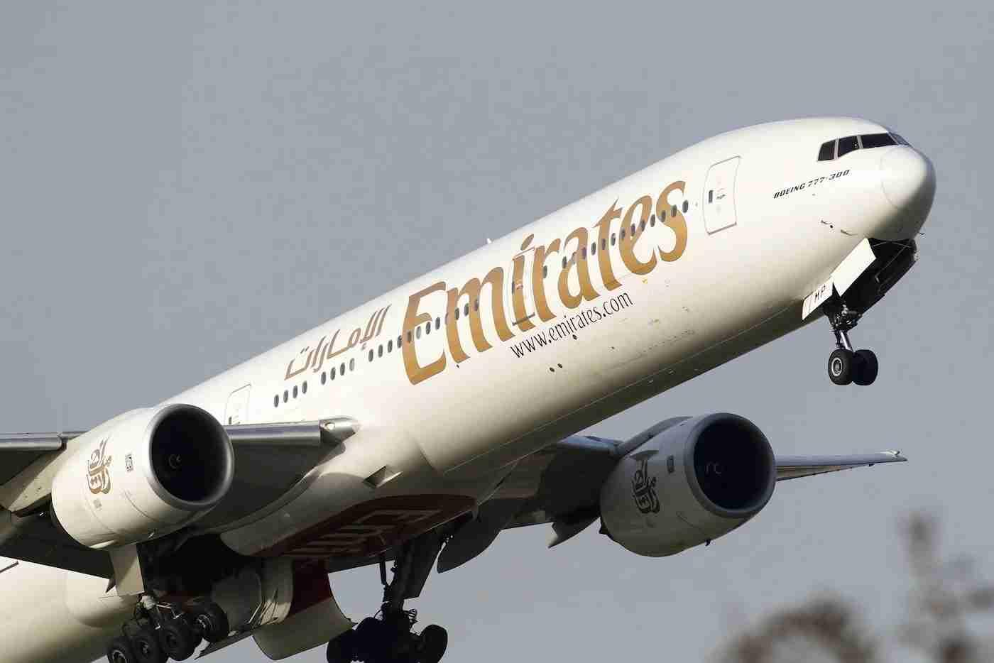 Emirates 777 Aircraft Lifting Off
