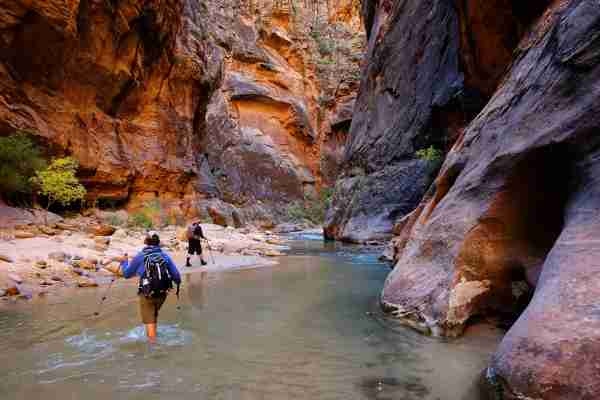 The Narrows in Zion National Park (Photo by David Epperson/Getty Images)