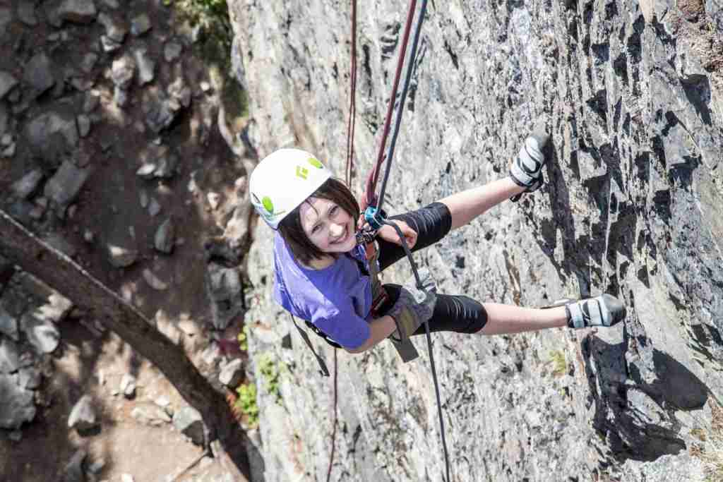 Rock climbing in Skagway is a family adventure. (Photo by Stephanie Hager/HagerPhoto/Getty Images)