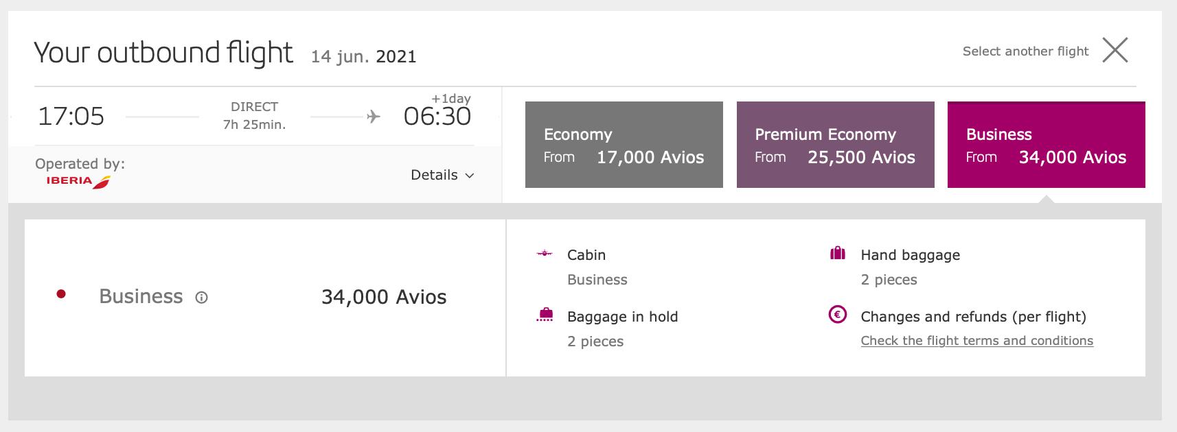 Off Peak Iberia Award Tickets on Iberia.com