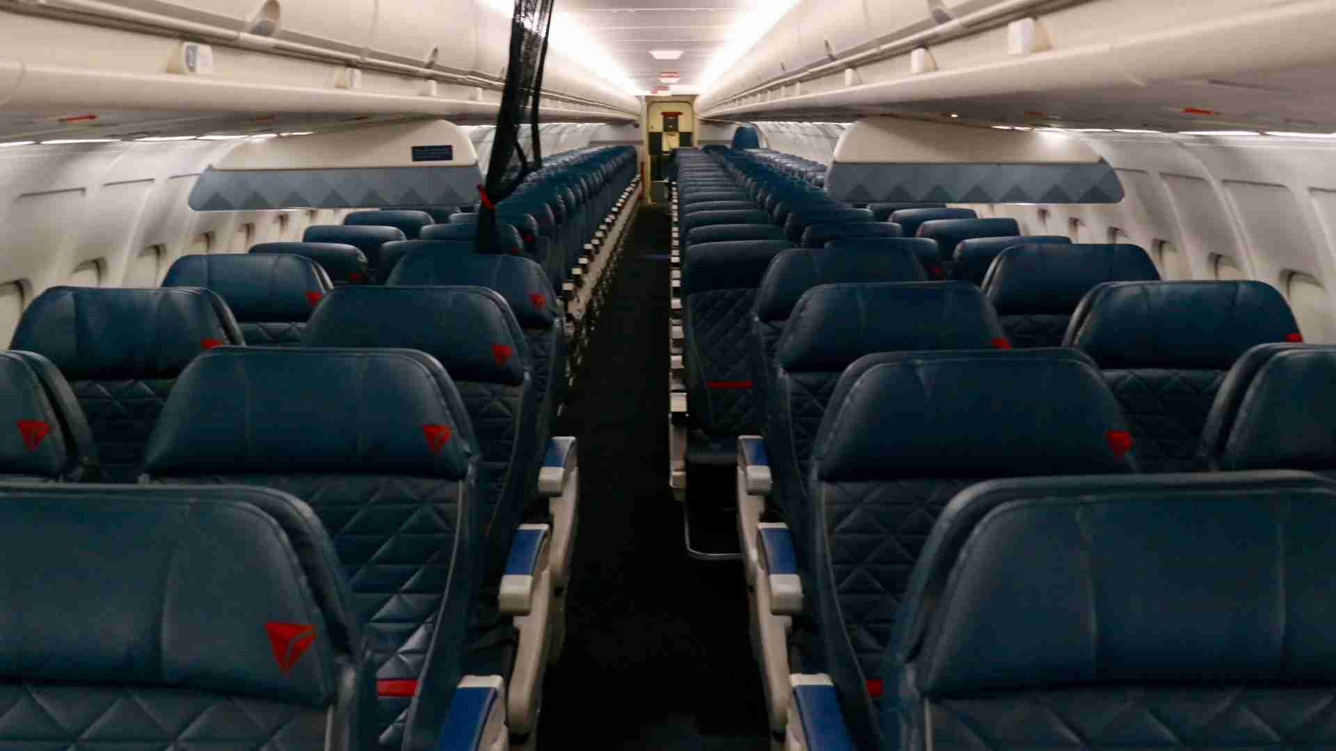 The interior of a Delta MD-88. (Image by Edward Russell/TPG)