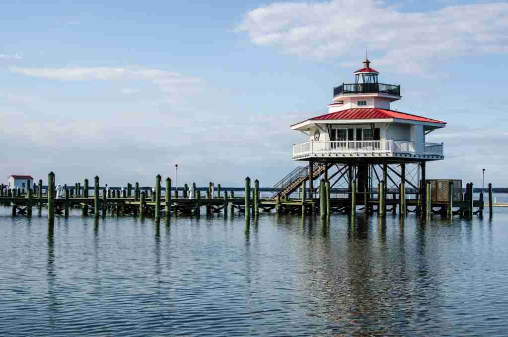 The Choptank River Lighthouse in Cambridge, Md. (Photo by Melissamn/Shutterstock)