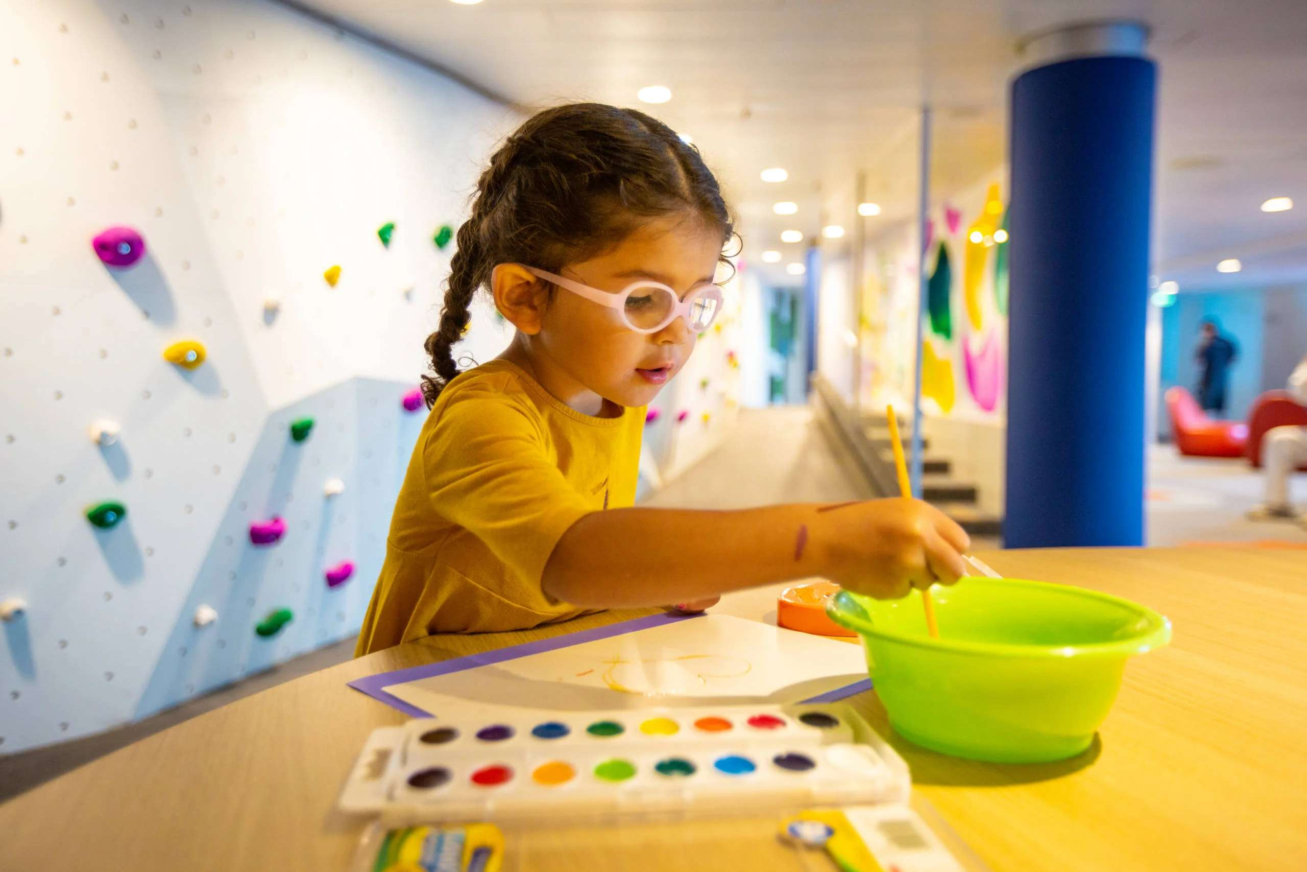 Arts and crafts are among the activities for children at the Adventure Ocean kids program area on Royal Caribbean ships. (Photo courtesy of Royal Caribbean)