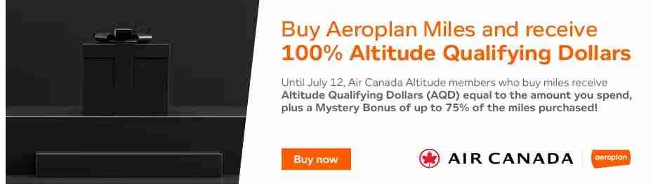 Aeroplan Buy Miles Promotion Banner