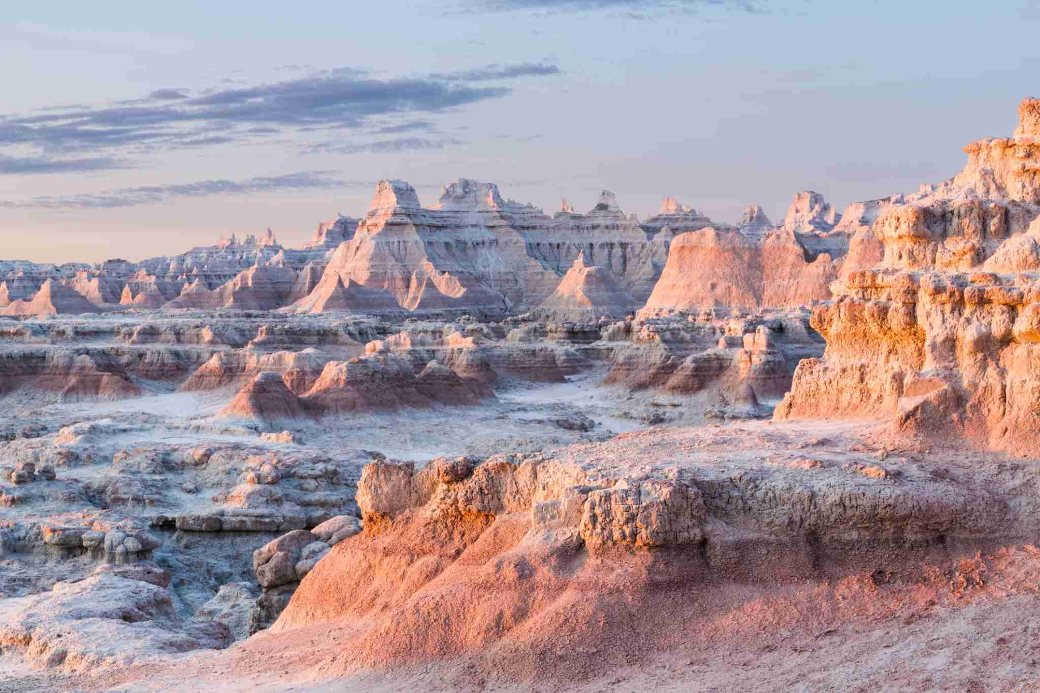 Early morning light on the Badlands.