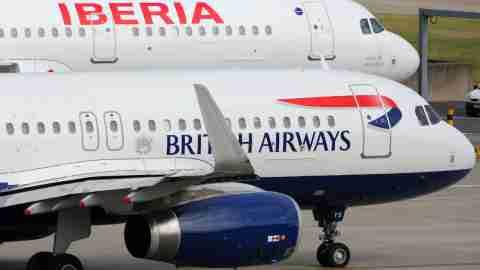 British Airways and Iberia Planes at LHR