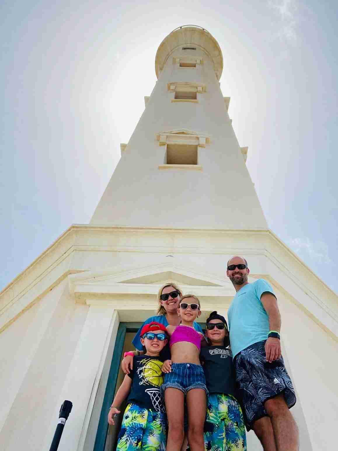 The Kaplan family in Aruba