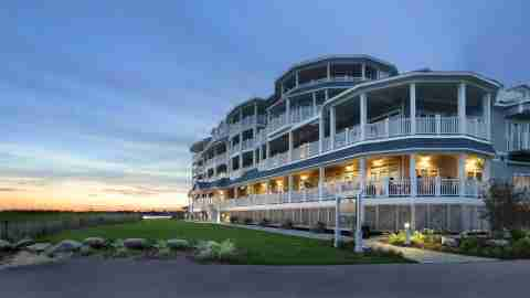 The exterior of the Madison Beach Hotel, a Curio Collection property in Connecticut