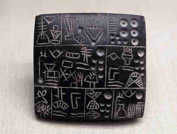 Administrative clay tablet from the Mesopotamian/Sumerian era. (Photo by Photo12/Universal Images Group Getty Images)