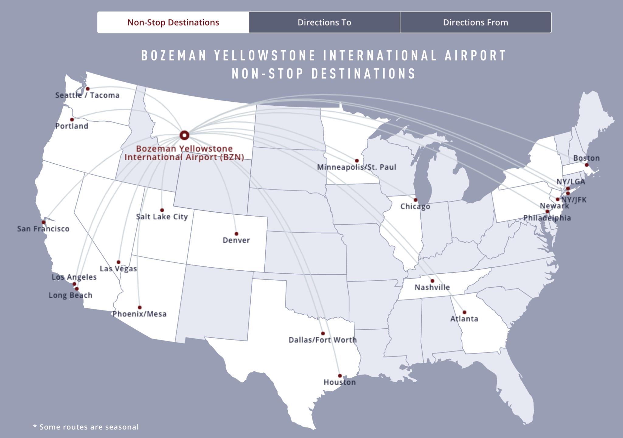 (Infographic courtesy Bozeman Yellowstone International Airport)