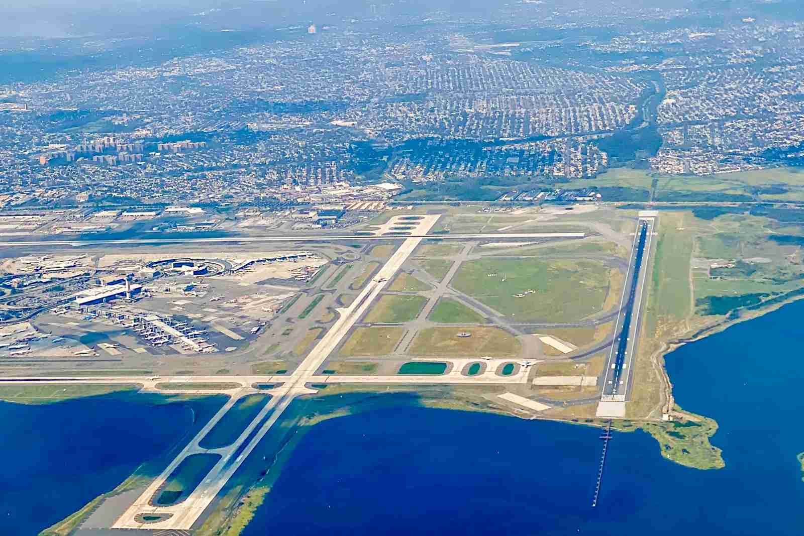 A view of JFK from above