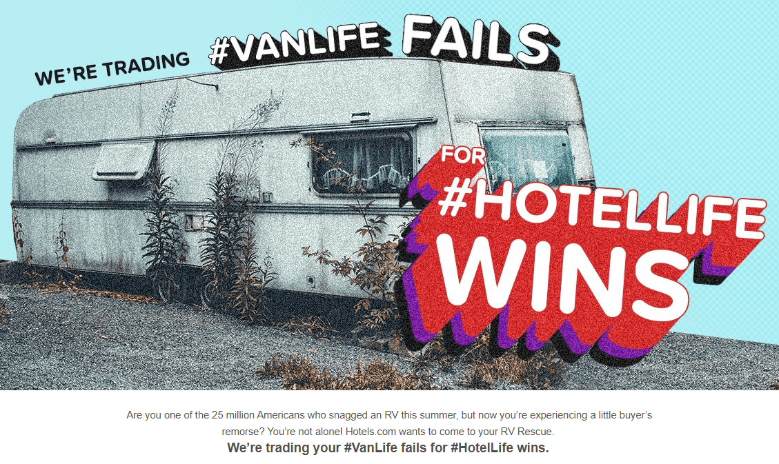 Hotels.com RV Rescue promotion