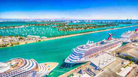 Port of Miami Carnival cruise ships