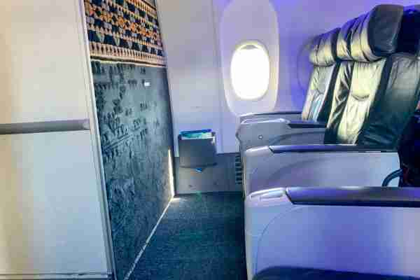 Alaska Airlines first class cabin on a 737. (Photo by Clint Henderson/The Points Guy)