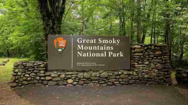 Great Smoky Mountain National Park Sign