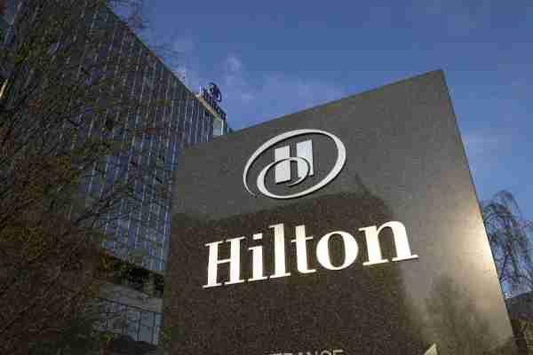 Hilton Sign at the Hilton Prague