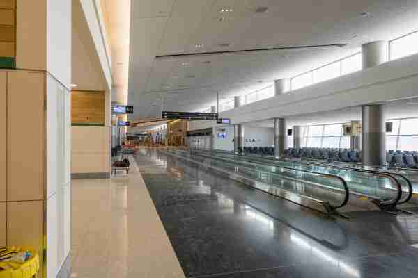 Inside the new Concourse A at Salt Lake City airport. (Image courtesy of Salt Lake City International Airport)