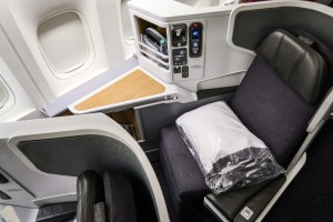American Airlines Business Class on Boeing 777-300ER. Photo by Nicky Kelvin.