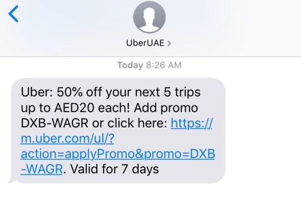 uber dubai coupon uae