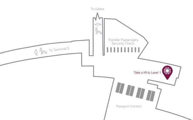 al dhabi lounge location map auh review terminal 1