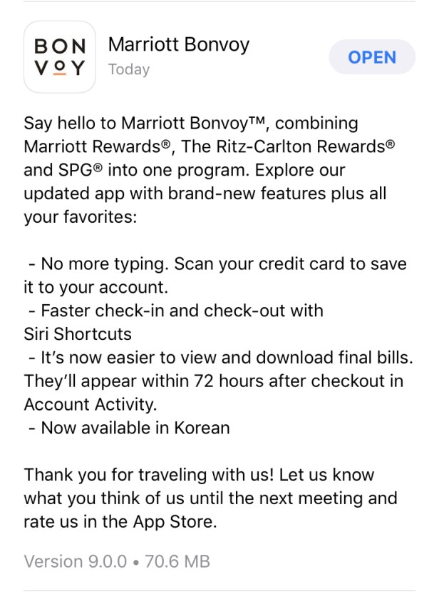 marriott bonvoy app logo description