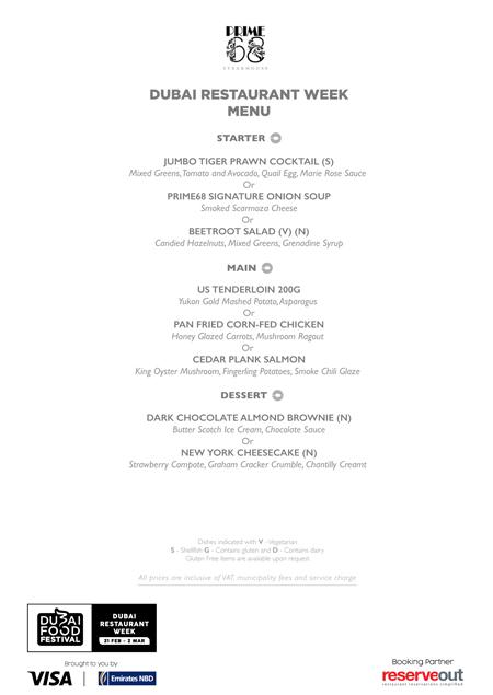 prime68 menu Dubai Restaurant week review uae