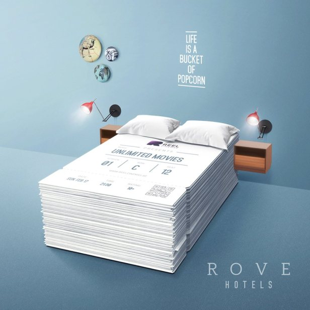 rove downtown hotel reel cinemas free movies dubai uae