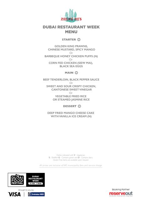 zheng he menu Dubai Restaurant week review uae