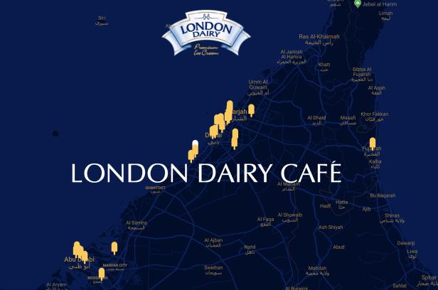 London dairy cafe locations Dubai Abu Dhabi Sharjah UAE