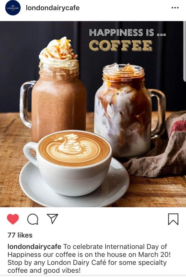 London dairy free coffee instagram Dubai Abu Dhabi Sharjah UAE