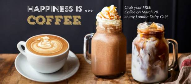 London dairy free coffee Dubai UAE