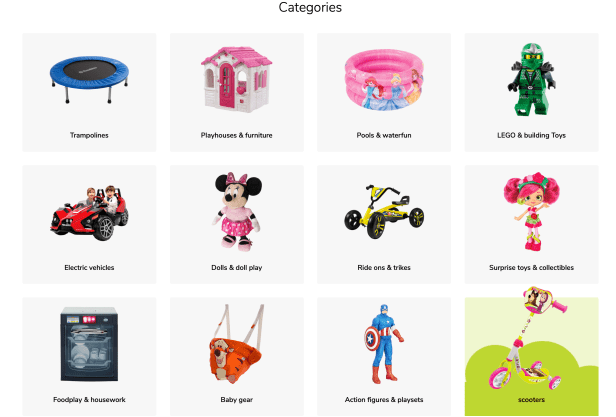 toys r us Middle East sale categories Dubai UAE