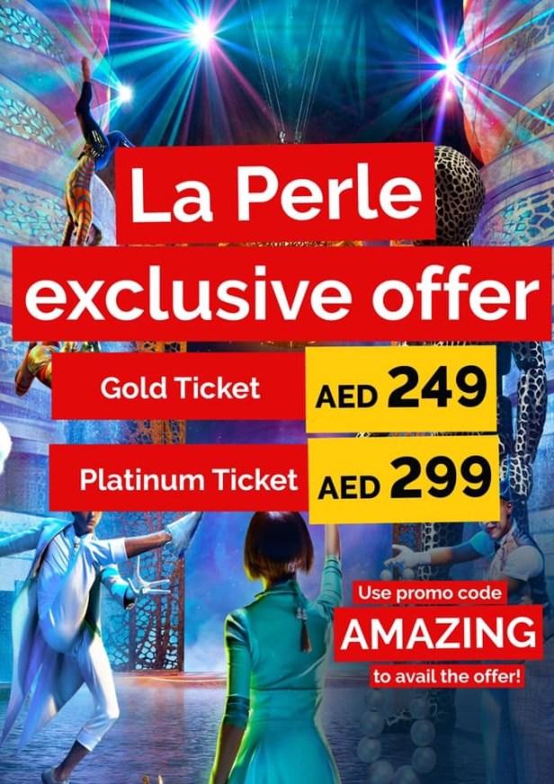 virgin megastore tickets discount offer coupon deal promo code dubai uae la perle by dragone
