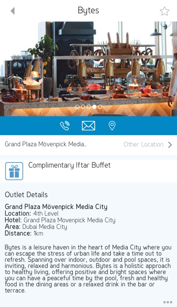 bytes grand plaza movenpick media city Dubai UAE ramadan 2019