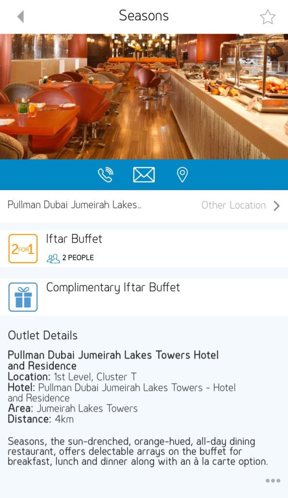 seasons iftar pullman hotel residence dubai jumeirah lakes towers jlt uae