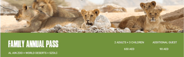 al ain zoo family annual pass ticket entry admission united arab emirates uae
