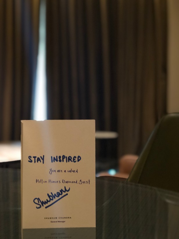 conrad pune review hilton honors diamond welcome card manager maharashtra india