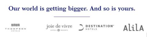 world of hyatt promotions alila thompson joie de vivre destinations hotels 2000 points free night december 31 2019