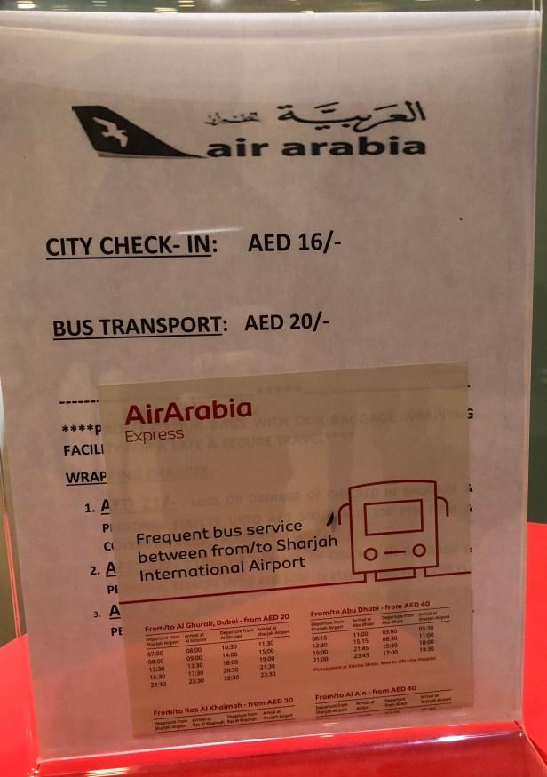 air arabia city checkin check in fees aed 16 al ghurair centre deira uae thepointshabibi